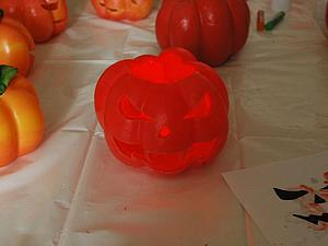 Делаем полую свечу-подсвечник в виде тыквы. Ярмарка Мастеров - ручная работа, handmade.