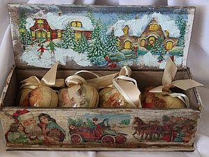 Новогодний короб для игрушек или чайная коробка | Ярмарка Мастеров - ручная работа, handmade