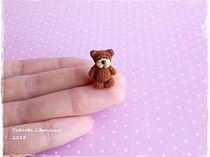 Мишка - малыш из полимерной глины | Ярмарка Мастеров - ручная работа, handmade