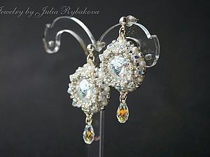 Мастер-класс: свадебные серьги из бисера с кристаллами Swarovski «Больше, чем любовь». Ярмарка Мастеров - ручная работа, handmade.