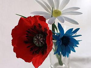 Создание цветка ромашки из фоамирана. Ярмарка Мастеров - ручная работа, handmade.