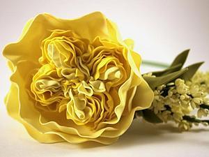 Пионовидная роза из фоамирана. Ярмарка Мастеров - ручная работа, handmade.
