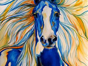 Волшебство синей лошади | Ярмарка Мастеров - ручная работа, handmade