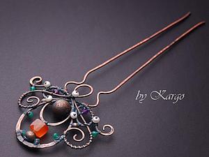 МК по wire wrap - гребень   Ярмарка Мастеров - ручная работа, handmade