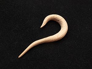 Изготовление серьги-обманки из дерева. Ярмарка Мастеров - ручная работа, handmade.