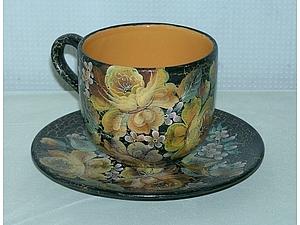 Краски по керамике. Роспись чашки | Ярмарка Мастеров - ручная работа, handmade