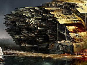 Фантастические города будущего в картинах художника Даниэля Доцу