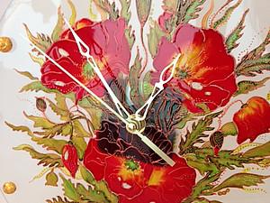Роспись по стеклу,витражные часы