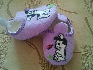 Делаем детские тапочки. Ярмарка Мастеров - ручная работа, handmade.