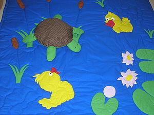 """Детский коврик """"Пруд с весёлыми утятами"""". Ярмарка Мастеров - ручная работа, handmade."""
