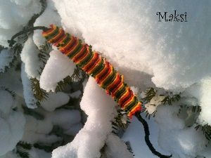 Плетем фенечку с бахромой. Ярмарка Мастеров - ручная работа, handmade.