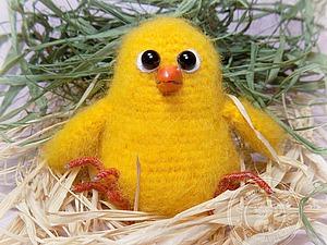 Вяжем милого цыпленка | Ярмарка Мастеров - ручная работа, handmade