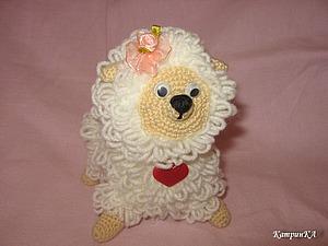 Вяжем крючком овечку. Ярмарка Мастеров - ручная работа, handmade.