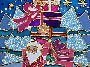 Конфетка - Розыгрыш! Новогодний набор стеклянных витражных открыток! | Ярмарка Мастеров - ручная работа, handmade