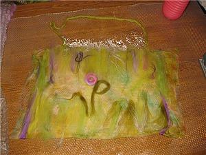 Валяние на натуральном шелке: митенки и сумочка. Ярмарка Мастеров - ручная работа, handmade.