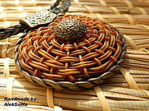 Круговое плетение из полимерной глины | Ярмарка Мастеров - ручная работа, handmade
