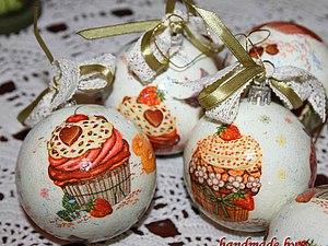 Елочные шары Пирожные Акция!!! | Ярмарка Мастеров - ручная работа, handmade
