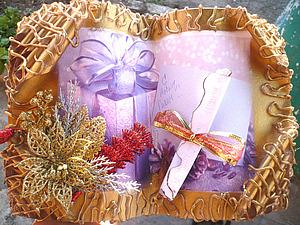 Новогодняя книга-открытка своими руками, handmad. | Ярмарка Мастеров - ручная работа, handmade