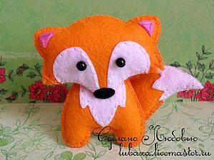 Шьем лисичку — брошь из фетра. Ярмарка Мастеров - ручная работа, handmade.