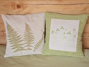 Как сделать отпечатки растений на ткани | Ярмарка Мастеров - ручная работа, handmade