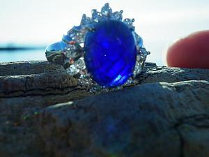 Аукцион! Кольцо с иолитом, серебро 925 + розыгрыш! | Ярмарка Мастеров - ручная работа, handmade