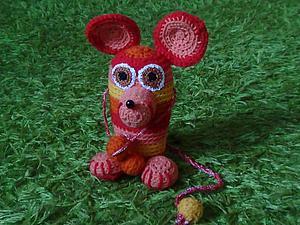 Вяжем крючком «Огненную мышь». Ярмарка Мастеров - ручная работа, handmade.