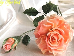 Роза из ткани. Простая, но эффектная | Ярмарка Мастеров - ручная работа, handmade