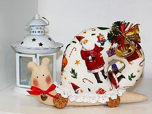 Розыгрыш!!! Новогодняя улиточка-тильда! | Ярмарка Мастеров - ручная работа, handmade