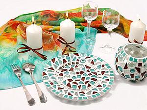 Декорирование тарелки мозаикой – «Созвездие» | Ярмарка Мастеров - ручная работа, handmade