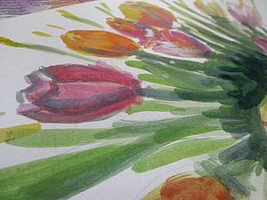 Тюльпаны для маленьких непосед: рисуем вместе с детьми. Ярмарка Мастеров - ручная работа, handmade.