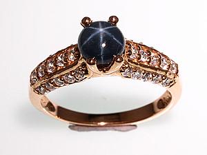Аукцион! Кольцо с звездчатым сапфиром + розыгрыш! | Ярмарка Мастеров - ручная работа, handmade