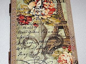 Книги-шкатулки Франция и Париж | Ярмарка Мастеров - ручная работа, handmade