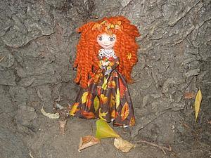 Кукла Осень. Часть 2. Роспись лица и волосы. Ярмарка Мастеров - ручная работа, handmade.