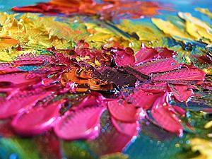 Как написать букет цветов в вазе, используя мастихин. Ярмарка Мастеров - ручная работа, handmade.