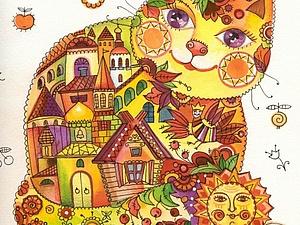 Кошки всех времен и народов в рисунках Оксаны Заики | Ярмарка Мастеров - ручная работа, handmade