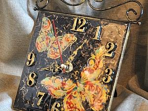 Создаем красивые часы с декором «Бабочки». Ярмарка Мастеров - ручная работа, handmade.