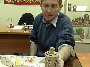 Лепим шкатулку из пласта глины , handmade