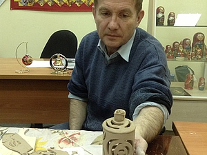 Лепим шкатулку из пласта глины. Ярмарка Мастеров - ручная работа, handmade.
