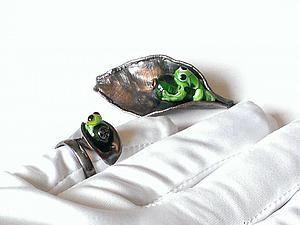 Создаем кольцо с регулируемым размером и крепим бусину lampwork   Ярмарка Мастеров - ручная работа, handmade