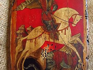 Состаренные иконы на дереве   Ярмарка Мастеров - ручная работа, handmade