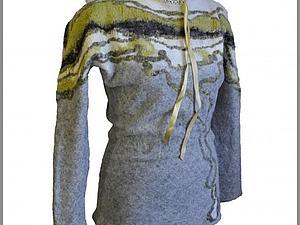 МК по созданию свитера в авторской технике эластичный войлок. | Ярмарка Мастеров - ручная работа, handmade