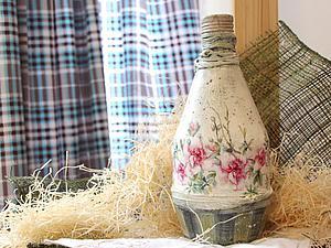 Видео мастер-класс: декор бутылки для начинающих. Ярмарка Мастеров - ручная работа, handmade.