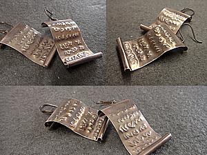 Создание сережек «Код Да Винчи». Ярмарка Мастеров - ручная работа, handmade.