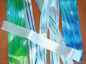 Окрашивание атласных лент в технике шибори | Ярмарка Мастеров - ручная работа, handmade