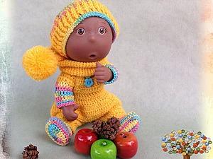 Видеоурок: вяжем миниатюрный комплект «Урожай» для пупса. Ярмарка Мастеров - ручная работа, handmade.