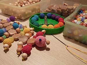 Слингоигрушка и слингобусы из прямоугольных бусин   Ярмарка Мастеров - ручная работа, handmade