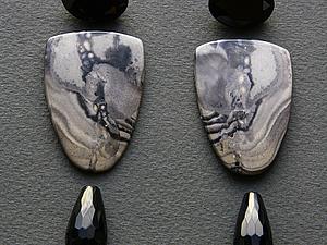 Камушки для длинных сережек | Ярмарка Мастеров - ручная работа, handmade