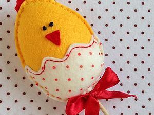 Шьем забавного пасхального цыпленка из фетра | Ярмарка Мастеров - ручная работа, handmade