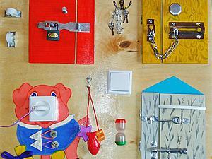 Делаем бизиборд, или Чем занять шустрого малыша. Ярмарка Мастеров - ручная работа, handmade.