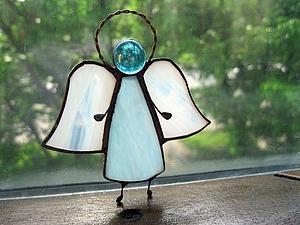 Изготовление витражного украшения «Ангел» в технике «тиффани». Ярмарка Мастеров - ручная работа, handmade.